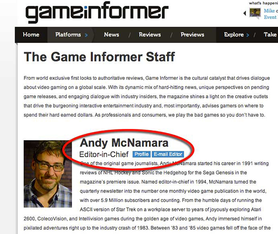 Where to find video game publication writers' contact information