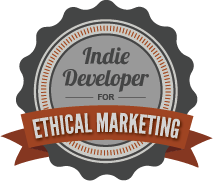 Indie Developer for Ethical Marketing Badge