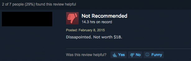 purely negative steam user review